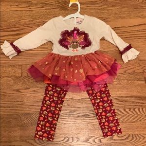 24M Little Lass Thanksgiving Outfit